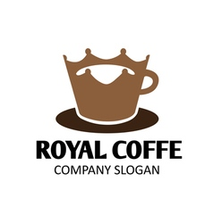 Royal coffe design vector