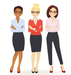 Three elegant business women vector