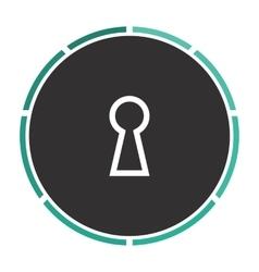 Keyhole computer symbol vector