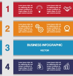 Four colour strips template for infographics vector