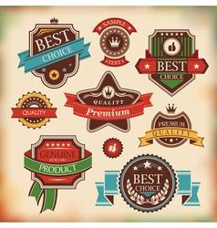 vintage labels and badges vector image