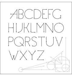 ABC font letter design vector image vector image