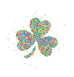 abstract four leaf clover st patricks day vector image vector image