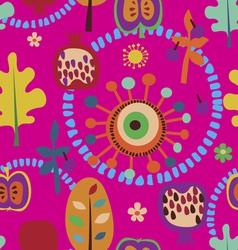 Autumn fantasy pattern vector