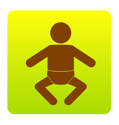 baby sign brown icon at vector image vector image