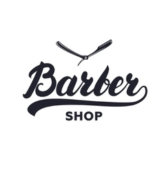 Barber shop hand written lettering caligraphy vector
