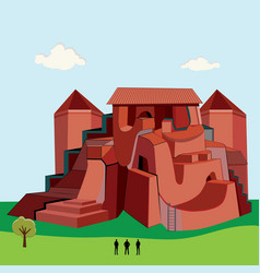 Big red castle vector