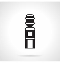 Black monochrome water cooler icon vector