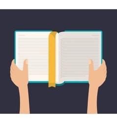 Book literature for reading design vector
