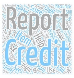 Can we dispute our own official credit scores text vector