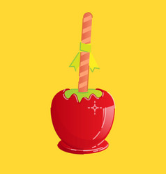 Candy apple vector