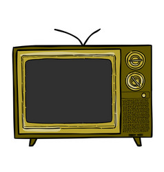 Cartoon image of tv icon television symbol vector