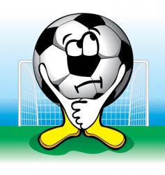 Cartoon soccer penalties vector