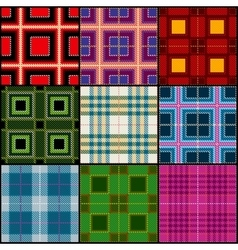 Classic tartan british traditional stripe plaid vector