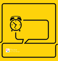Clock Alarm Icon Speech Bubbles and Chat symbol vector image vector image