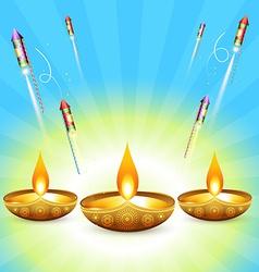 diwali design vector image