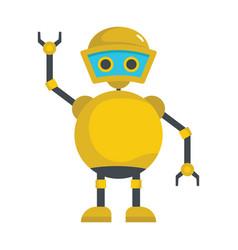 funny yellow robot icon vector image
