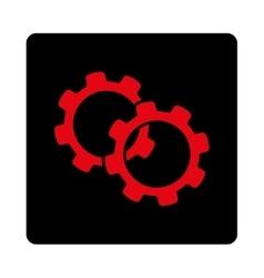 Gears icon vector