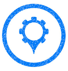 Gps settings rounded grainy icon vector