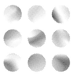 halftone black and white dotted pattern circle vector image