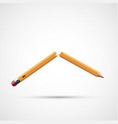 Icon broken pencil vector