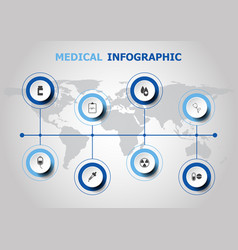 Infographic design with medical icons vector