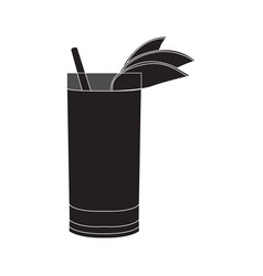 Isolated cocktail silhouette vector