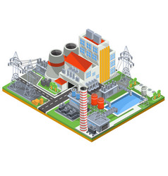 isometric of a nuclear power vector image vector image