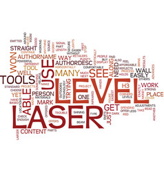 Laser level tool text background word cloud vector