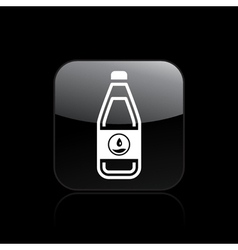 liquid bottle icon vector image vector image