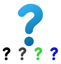 Question flat gradient icon vector