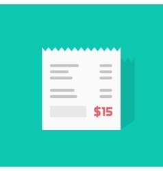 Receipt icon invoice flat vector image vector image