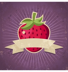 Retro strawberry vector