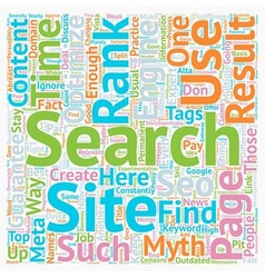 Seo myths pit holes on the way to the top text vector