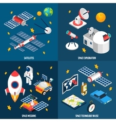 Space Exploration Isometric vector image vector image