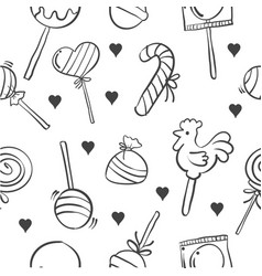 stock of various candy doodle style vector image vector image