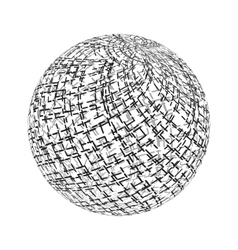 Stroked Sphere Texture vector image