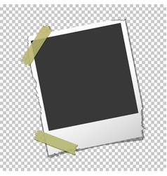 Torn photo frame on isolated background vector