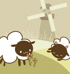 Two sheep vector