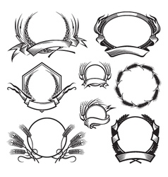 wheat icon set vector image