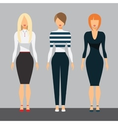 Women in office clothes beautiful woman in vector