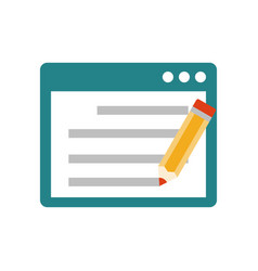 seo copywriting flat icon vector image