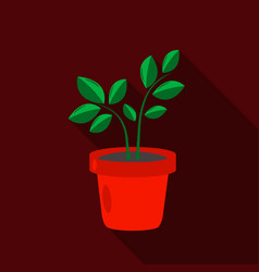 Plant icon of for web and vector