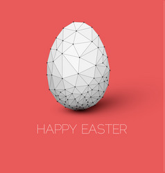 simple happy easter card vector image