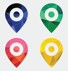 Map pin icon abstract triangle vector