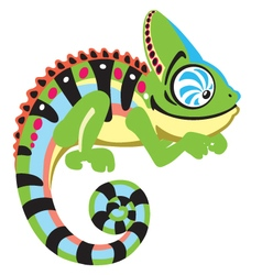 Cartoon chameleon vector