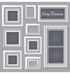 Set of white and grey frames for your design needs vector