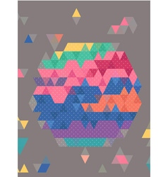 Abstract colorful triangles with dot texture vector