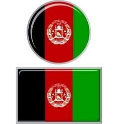 Afghanistan round and square icon flag vector