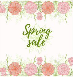 Background for spring sale vector